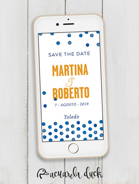 "Save the Date ""Dots"""