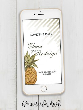 "Save the Date ""Pineapple"""