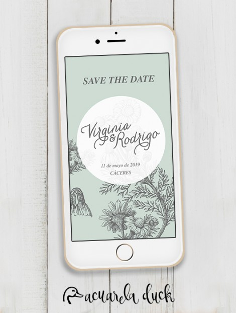 """Save the Date """"Floral"""""""