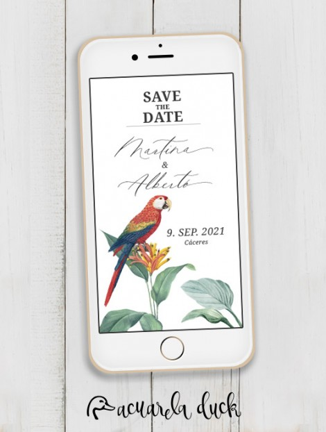 """Save the Date """"Guacamayo"""""""