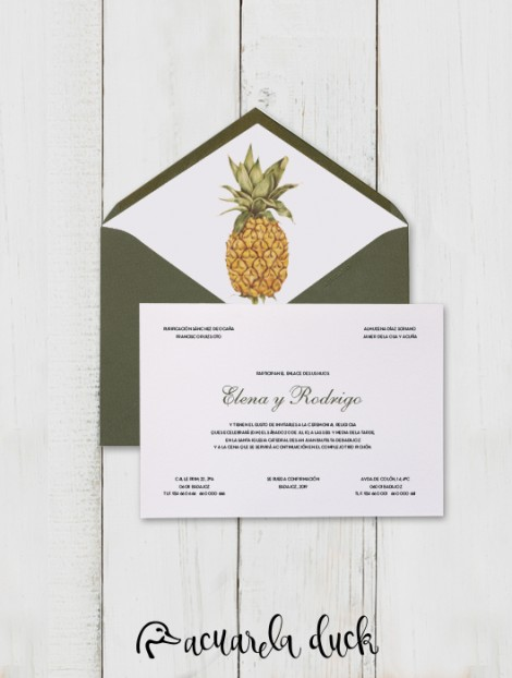 "Invitación de boda ""Pineapple"""