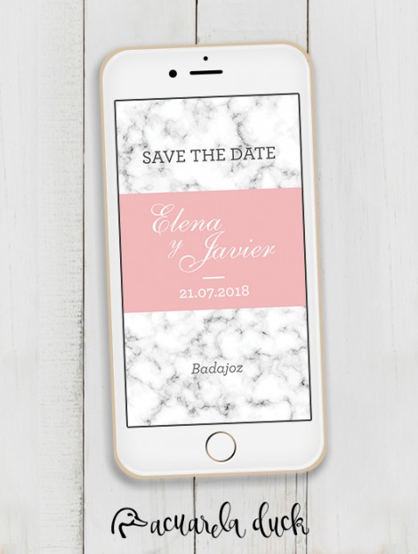 """Save the Date """"Marble"""""""