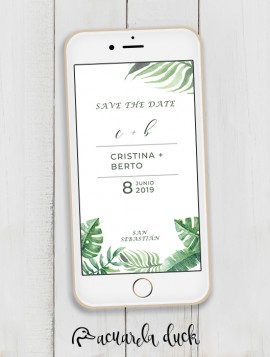 """Save the Date """"Tropic"""""""